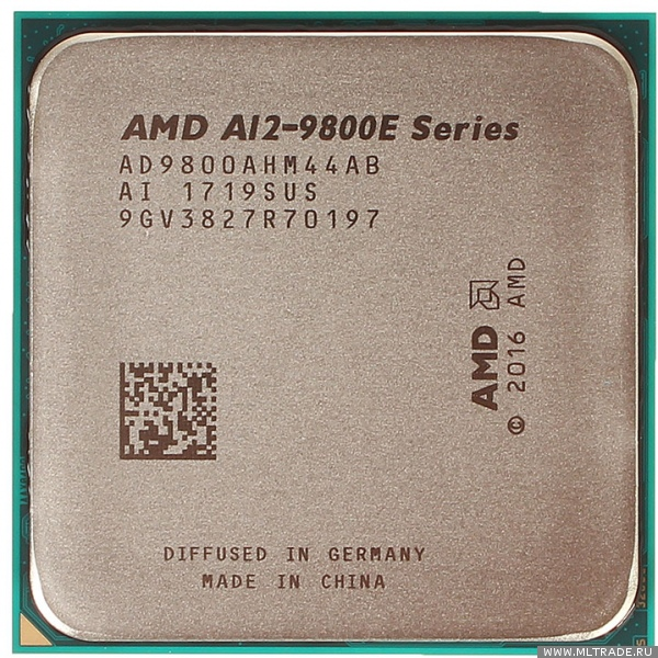 AMD A12-9800E  (3,1-3/8,AM4, 3Mb Cache) 4 ядра, 4 потока, BOX