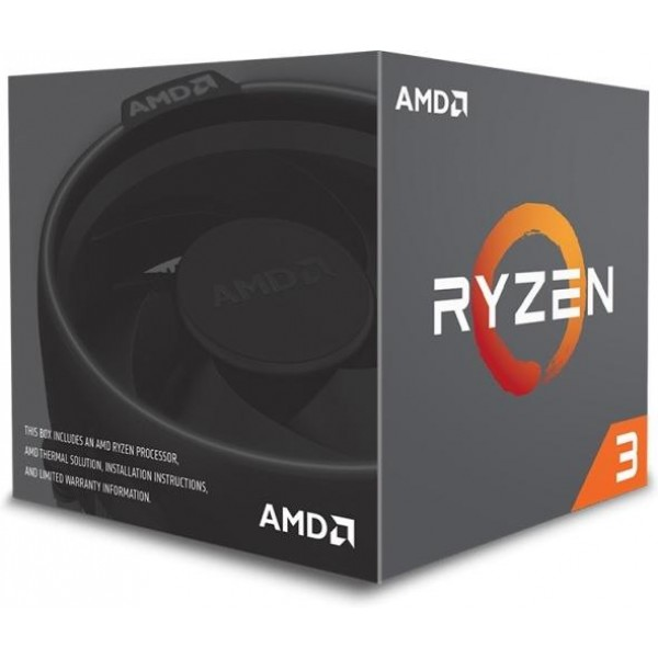 AMD Ryzen 3 1200 (3,1 - 3,4 GHz, AM4, 8Mb Cache) 4 ядра, 4 потока, BOX